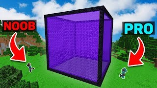 Minecraft NOOB vs PRO  GIANT PORTAL CUBE Battle Challenge in Minecraft Animation