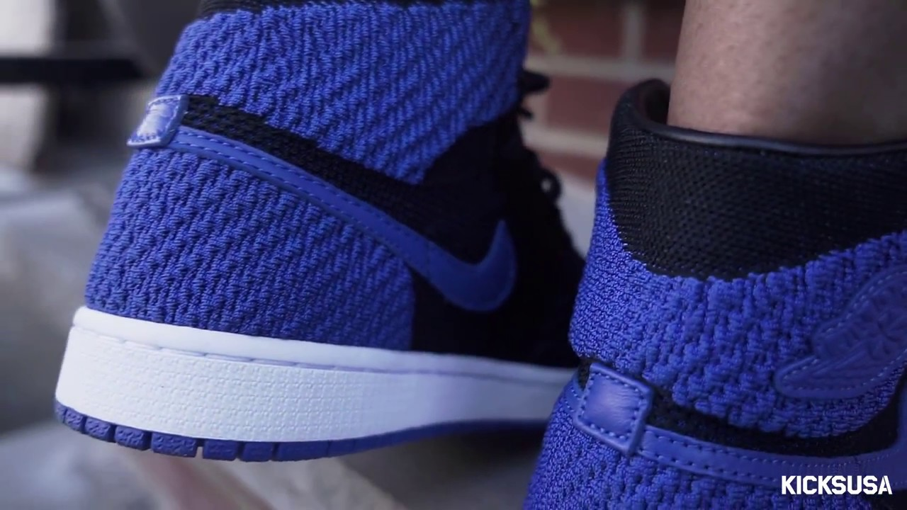 d96d2c73c09a Air Jordan 1 Flyknit  Royal  ON FOOT Review