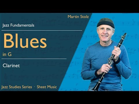 Play a jazzy Blues in concert F - with solo transcription for clarinet