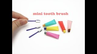 DIY Miniature Doll Mini Tooth Brush and Tooth Paste - Very Easy!