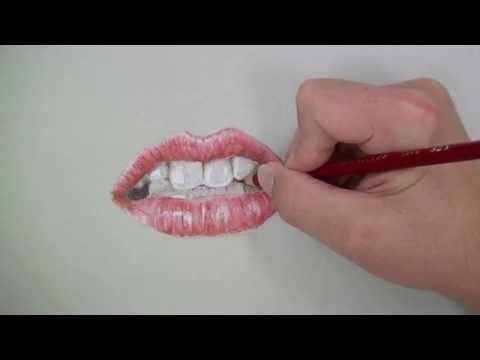 Draw a Realistic Mouth with Colored Pencils