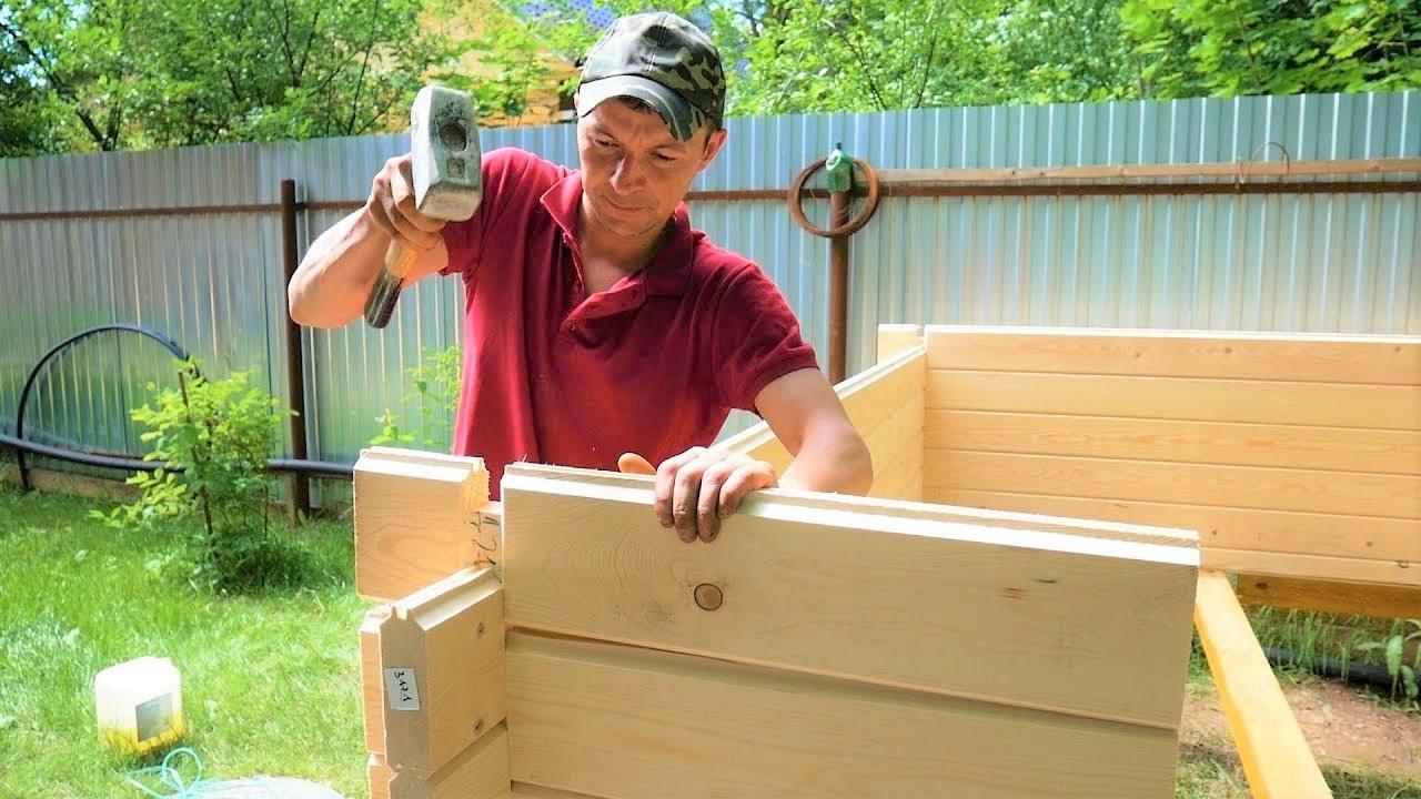 (ВИДЕО) - Лятна къща от дървен материал за 4 часа със собствените си ръце. Стъпка по стъпка