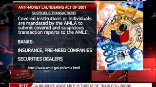 What is the Anti-money Laundering Act of 2001