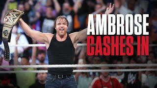 dean ambrose wins the wwe world heavyweight title at wwe money in the bank what you need to know