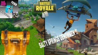 Fortnite Battle Royale. Did I take Salty Springs ?! Did Lahmacun save me?! || YCBB_Clan