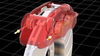 Disk brake 3D animaton