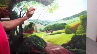 Como Pintar uma Paisagem Realista Sobre Tela Passo a Passo