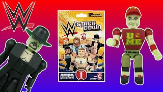 WWE Stack Down Blind Bags LEGO Style Wrestling Figures Opening & Video Toy Review