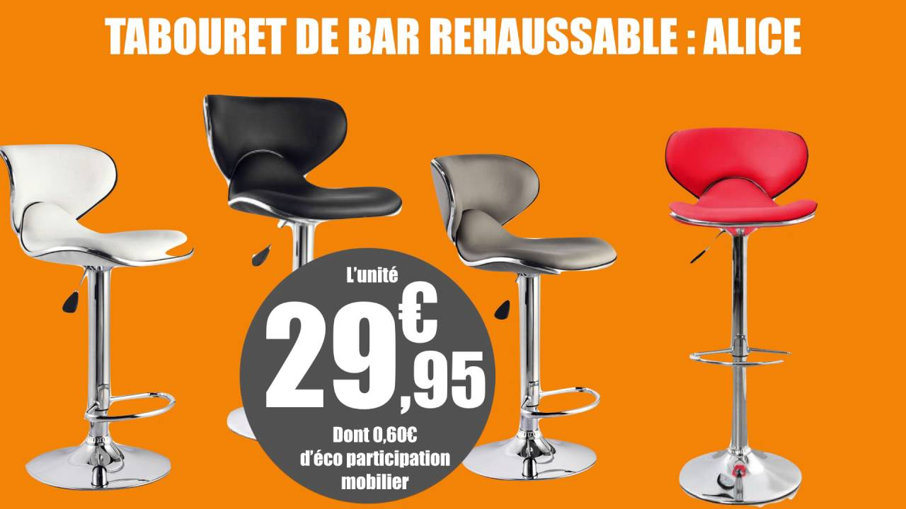 2 Tabourets Wave Tabouret De Bar Réhaussable