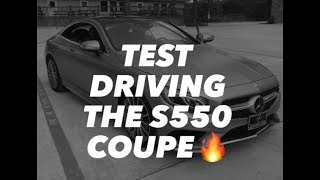 Test driving the Mercedes-Benz S550 Coupe