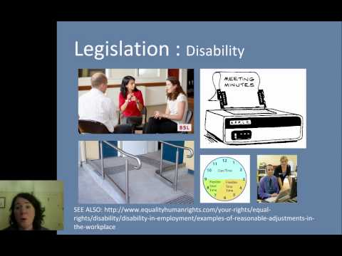 Understanding Equality & Diversity - Equality Act 2010 [UK] - Disability & Age