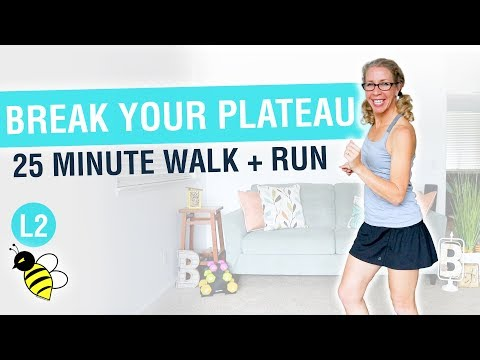 How to Break Your WEIGHT LOSS Plateau, 25 minute WALK + RUN workout with Pahla B