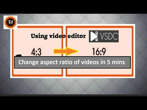 Convert 4:3 video to 16:9 HD using VSDC video editor - YouTube
