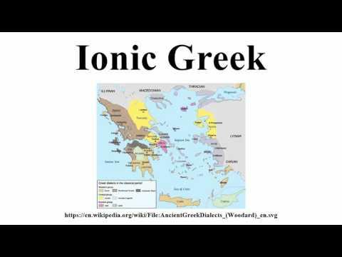 Ionic Greek