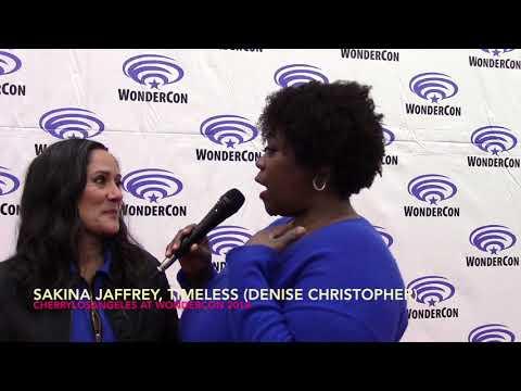 Sakina Jaffrey talks Timeless at Wondercon