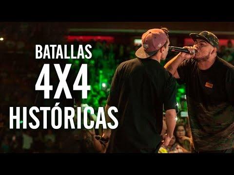 BATALLAS 4X4 que MARCARON la HISTORIA del FREESTYLE | Batallas De Gallos Rap