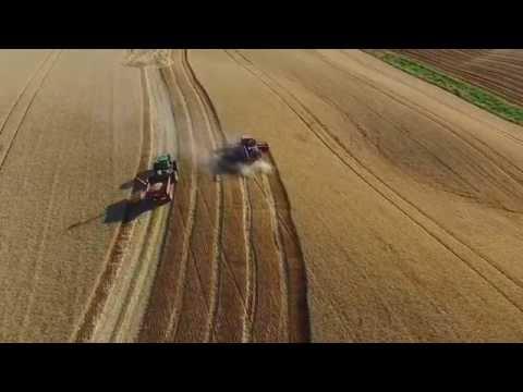 Harvesting wheat on the Palouse