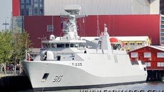 FARMAROC : Livraison de la frégate marocaine Allal Ben Abdellah (615) - Moroccan Navy