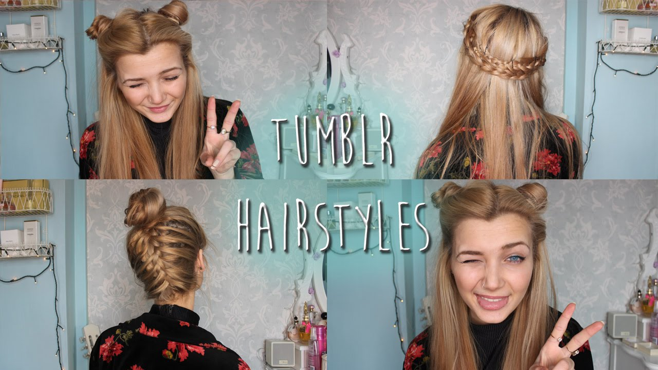 ☯ tumblr inspired hairstyles ☯ - youtube