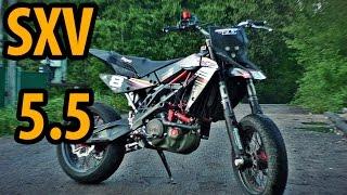 Aprilia SXV 550 обзор и тестдрайв \ review and test drive
