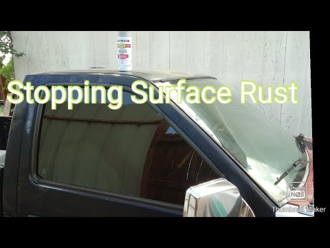 Stopping Surface With Rustoleom Spray Paint. Nissan Hardbody