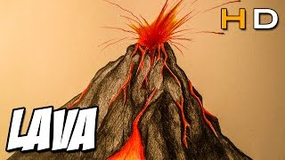How to draw a volcano erupting step by step For Kids - Timelapse
