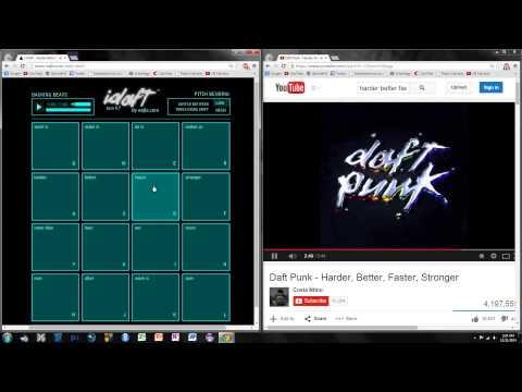(iDaft remix) Daft Punk - Harder Better Faster Stronger