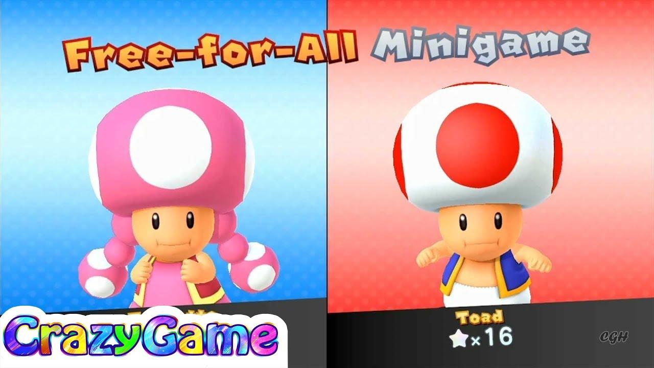 Mario Party 10 Mario Party #24 Toadette vs Toad (Haunted ...