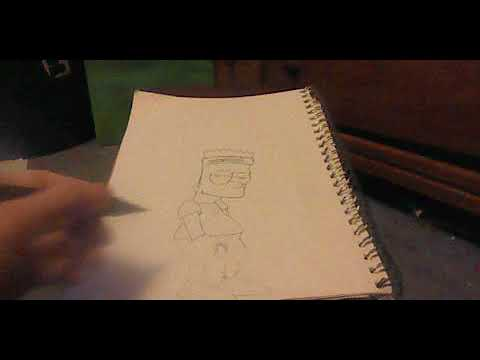 How To Draw Bart Simpson Supreme Style Youtube
