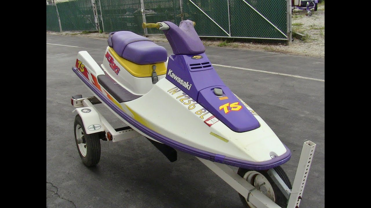 1996 Kawasaki TS Jet Ski 2 Stroke Walk-around Video
