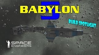 Space Engineers Babylon 5 Hyperion Heavy Cruiser Aegean - Build Spotlight