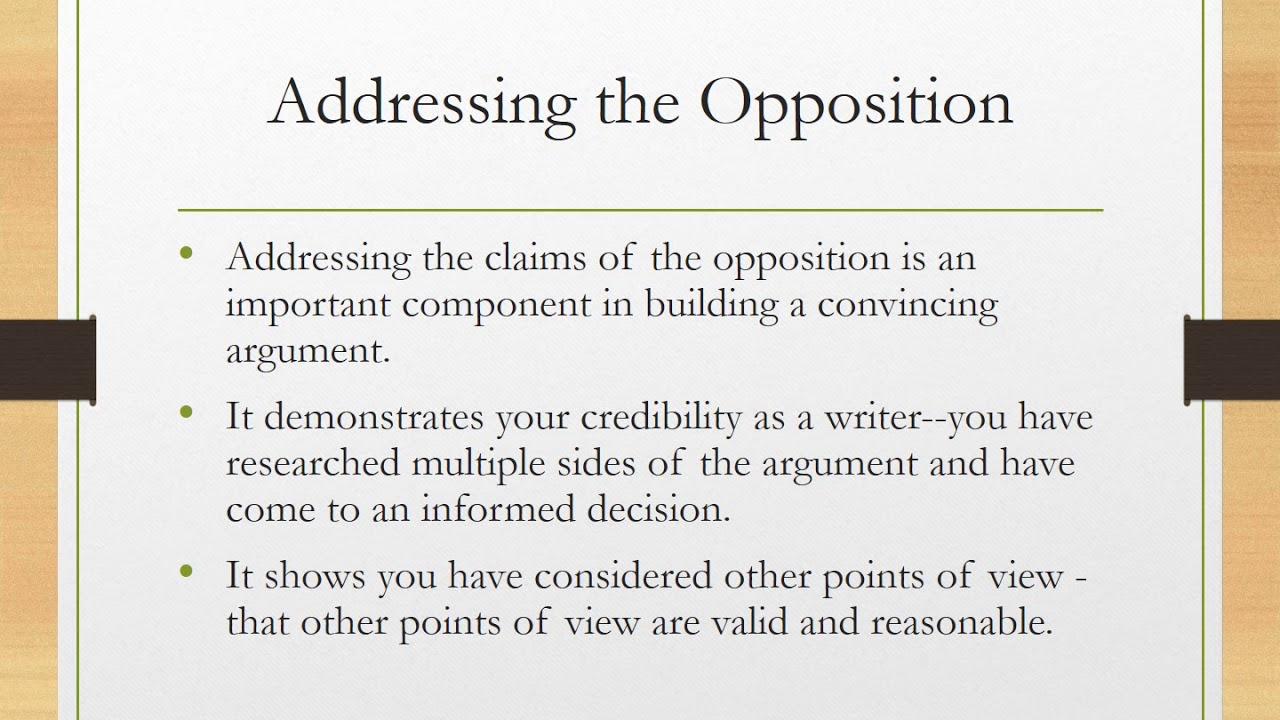 supporting-reasons argument essay