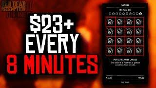 $23 EVERY 8 MINUTES IN RED DEAD REDEMPTION ONLINE (RDR2 ONLINE MONEY METHOD)
