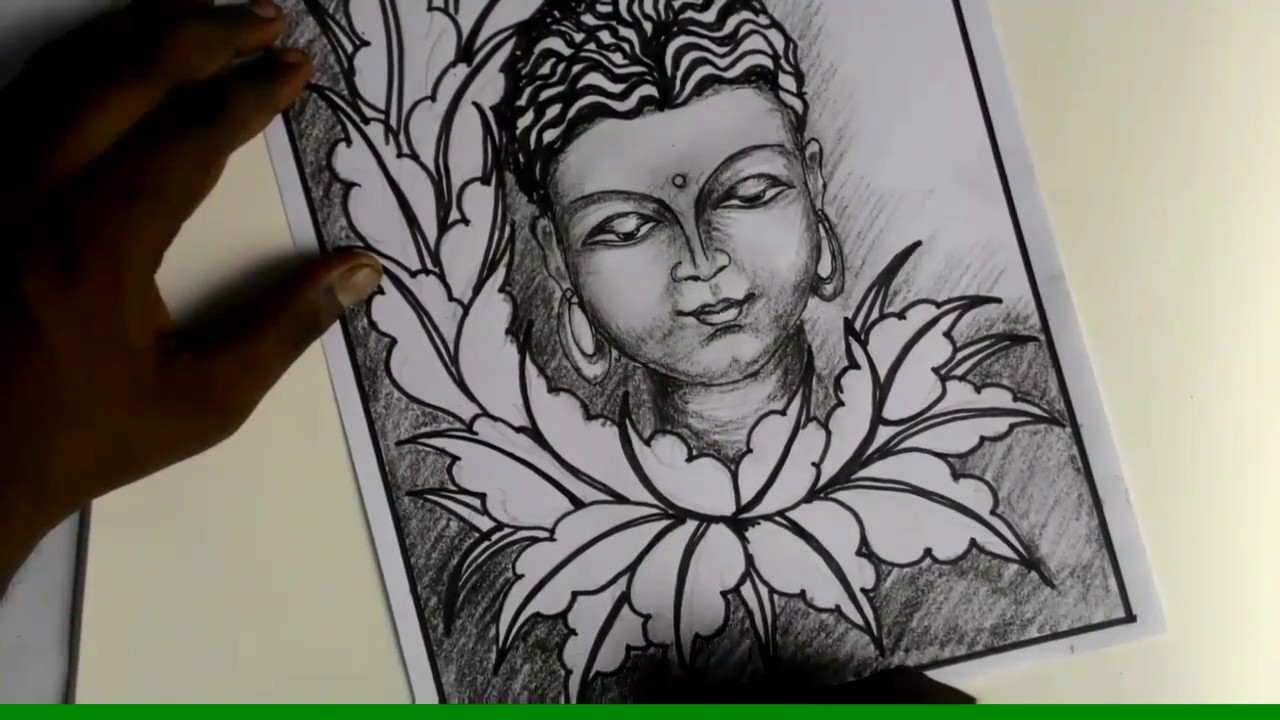 Budha how to draw buddha pencil drawing rainbow art with radhapada