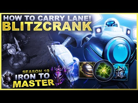 HOW TO CARRY LANE WITH BLITZCRANK! - Iron To Master S10   League Of Legends