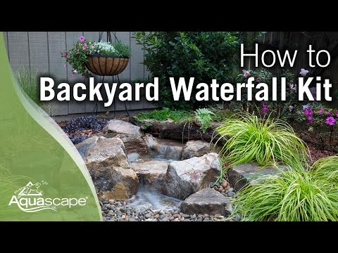 How To Build A Backyard Waterfall