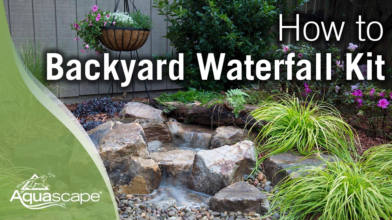 How to build a backyard waterfall youtube for How to landscape backyard