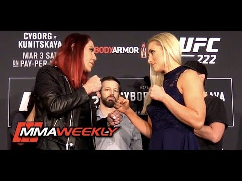 UFC 222 Face-Offs: Cris Cyborg vs Yana Kunitskaya (Media Day)