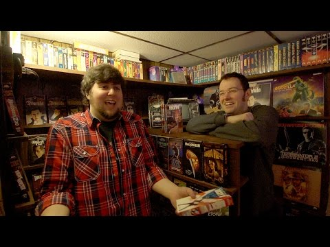 JonTron Visits the Cinemassacre VHS collection