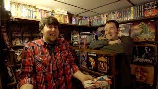 JonTron Visits the Cinemassacre VHS collection