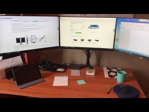 """How To Set Up Three Dell 24"""" Display Monitors Using Dell Business Dock - WD15 With 180W Adapter"""