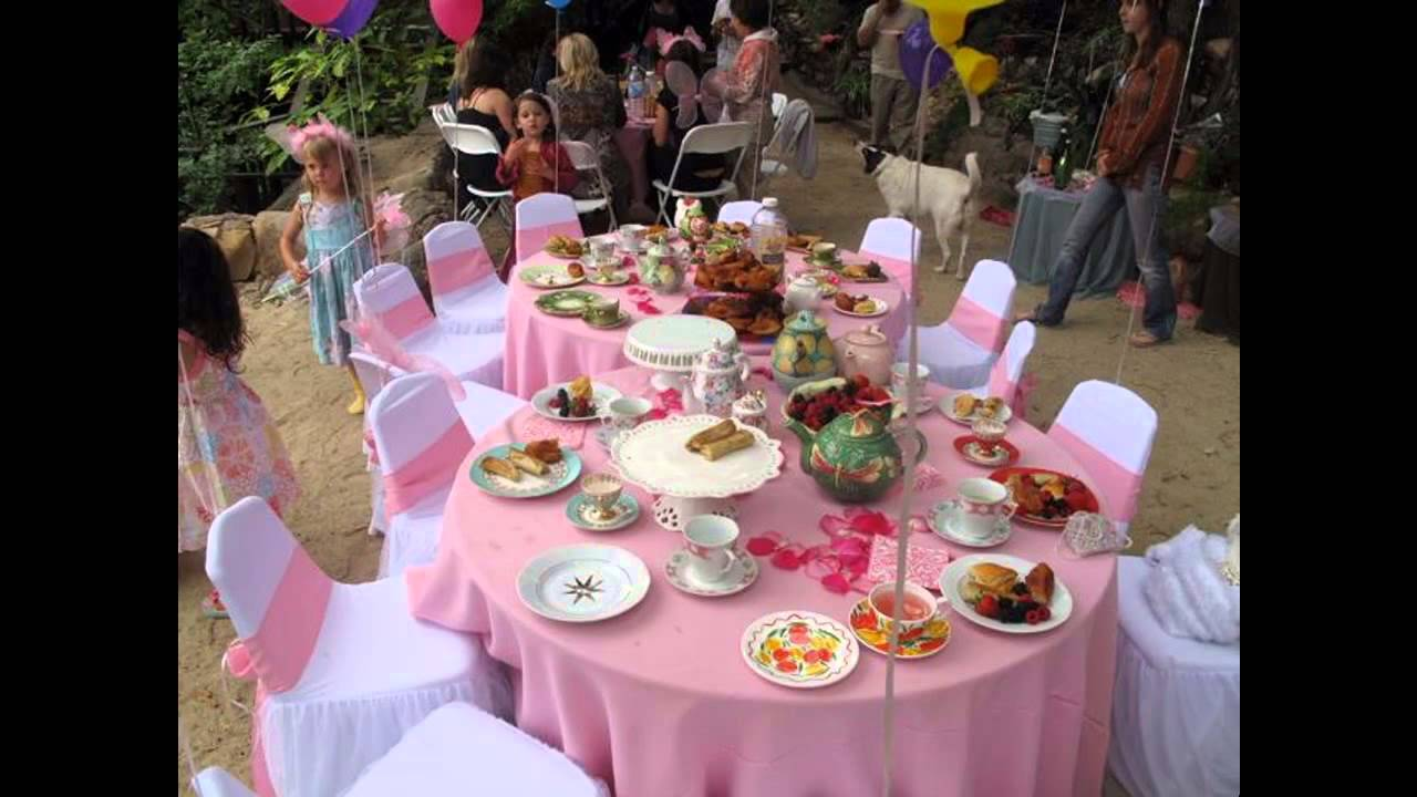easy diy tea party ideas for kids youtube