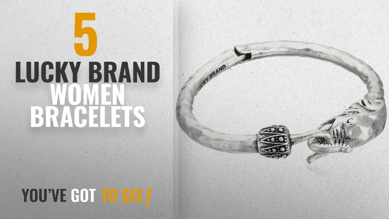 10 Best Lucky Brand Design Women Bracelets Silver Elephant Cuff Bracelet 2 38