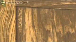 Galway Solid Oak Narrow Sideboard Storage Cabinet From Oak Furniture Land