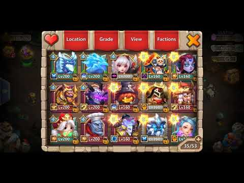 Castle Clash FREE ACCOUNT With Lavanica Skeletica, Lazulix And MORE