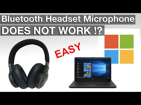 Bluetooth Microphone Does Not Work On Windows10 Headsets Headphones How To Fix Youtube