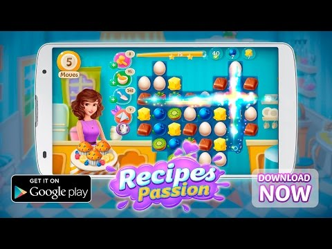 Recipes Passion - NEW Match 3 Free Game