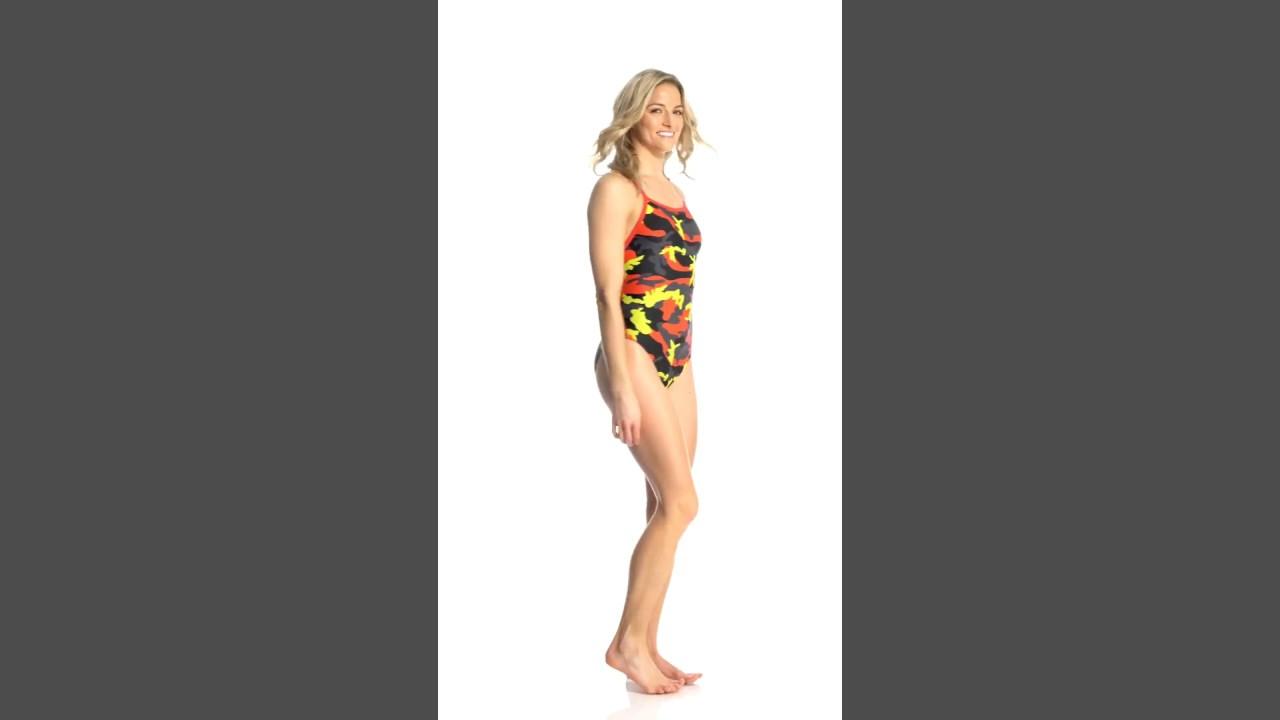 c6a9020c5f3d6 Speedo Women s Camo Squad Flyback One Piece Swimsuit