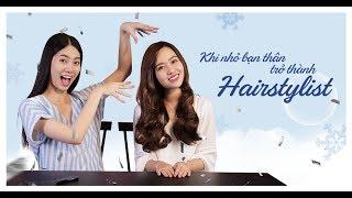 Video tham gia thử thách làm tóc cho nhau