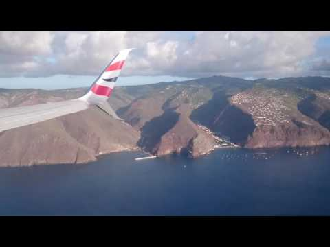 St Helena - View from above - The first Comair departure from the island.